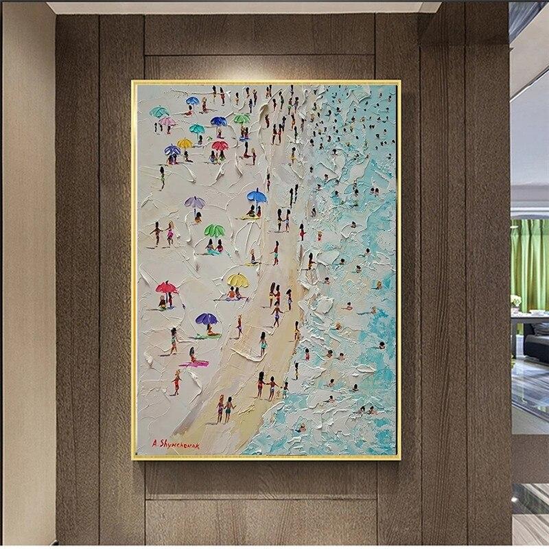 Картина на холсте Летняя Пляжная морская пейзаж нож плакат картина на стену картины для гостиной плакаты и принты домашний декор