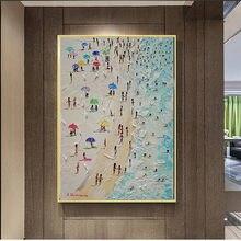 Pintura em tela verão praia seascape faca poster imagem na parede fotos para sala de estar cartazes e impressões decoração da sua casa