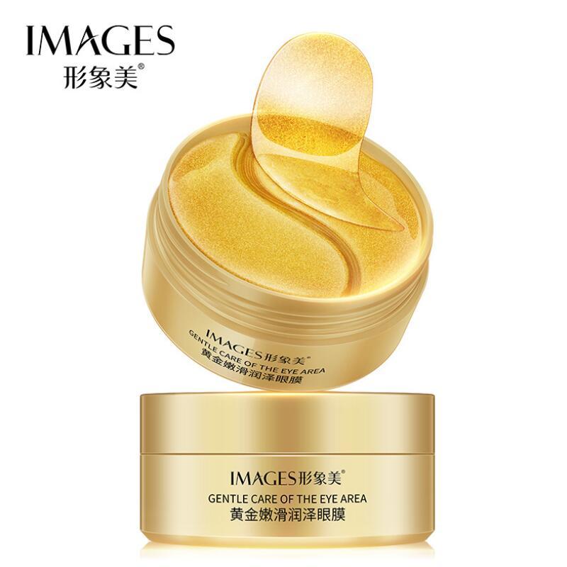 IMAGES 24K Gold Eye Mask Moisturizing Hydration Eye Patches Anti-Wrinkle Remove Dark Dircles Eyes Pads Eyes Skin Care 60pcs
