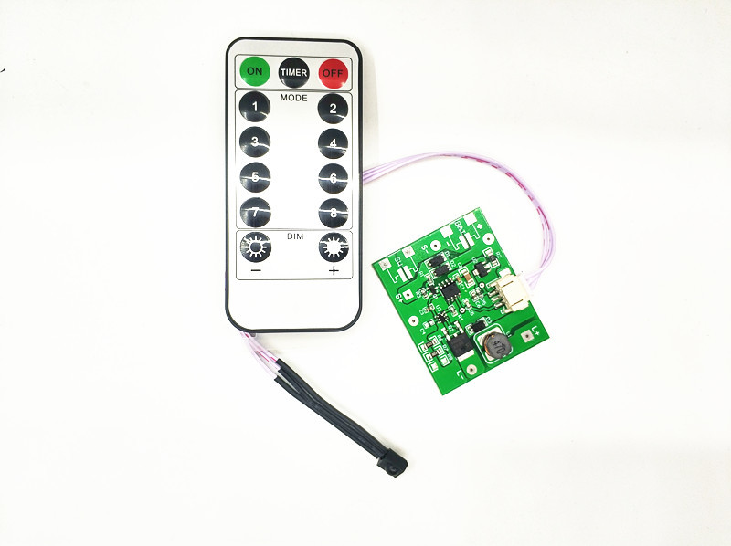 Remote Control Type 3.7V Lithium Battery Solar Flood Light Circuit Board 7.4V Solar Garden Light Line Control Board