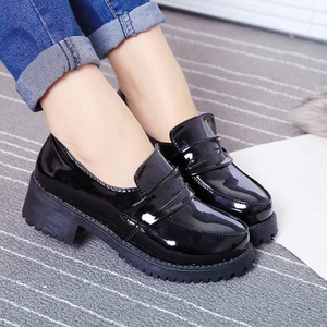 Image 4 - Japanese Student Shoes College Girl Shoes JK Commuter Uniform Shoes PU Leather Cospaly Shoes