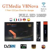 цены 1 Year Europe Cccam 7 line GTMedia V8 Nova DVB-S2 H.265 decoder satellite receiver Support Built in Wifi IPTV Redtube tv decoder