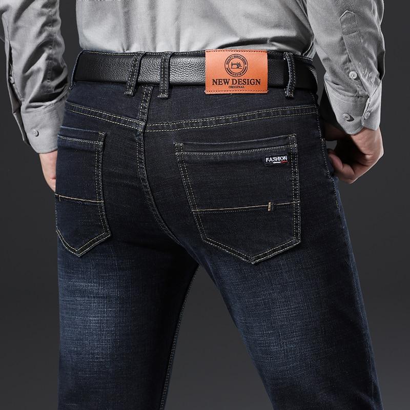 H15b497860f7a44e7abaf0ee38dd536fe2 - 2020 New Design Jeans Mens Pants Cotton Deniem Classic Trousers Casual Stretch Slim High Quality Black Blue Multiple Styles