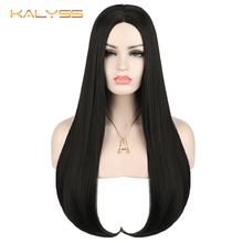 Kalyss 26 inches Women's Wig Black Long Straight Synthetic Wigs