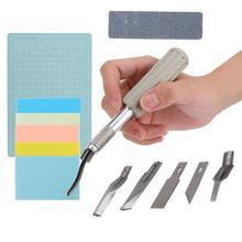 5 шт. резиновый штамп набор для гравировки A5 разделочная доска резной нож резиновый штамп и набор лезвий свадебные приглашения