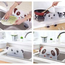 1pc Cute Panda Sucker Water Splash Guard Baffle Wash Basin Sink Board Kitchen Tools Protect Water Baffle Supplies plasma th 42pa50c board baffle tnpa3242 tnpa3243