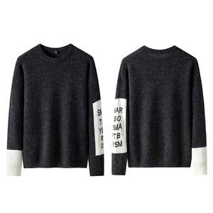 Image 2 - SingleRoad 두꺼운 스웨터 남자 2019 겨울 양모 옷 니트 풀오버 캐시미어 스웨터 남성 느슨한 패션 점퍼 고품질