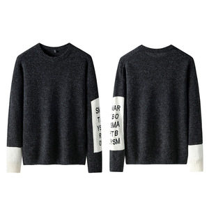 Image 2 - SingleRoad Thick Sweater Men 2019 Winter Wool Clothes Knitted Pullover Cashmere Sweaters Male Loose Fashion Jumper High Quality
