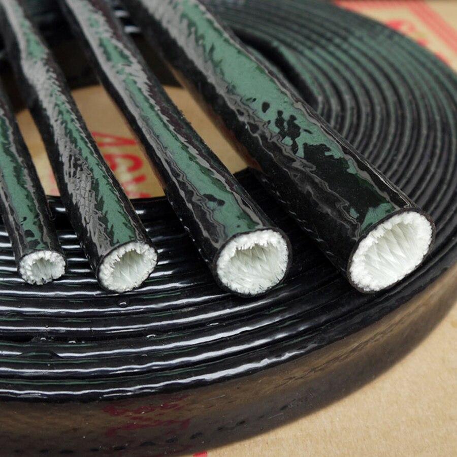Tubulação de alta temperatura da luva do fogo do tubo de fibra de vidro preto descontínuo do corte de 200mm 44mm-7070mm engrossar a isolação