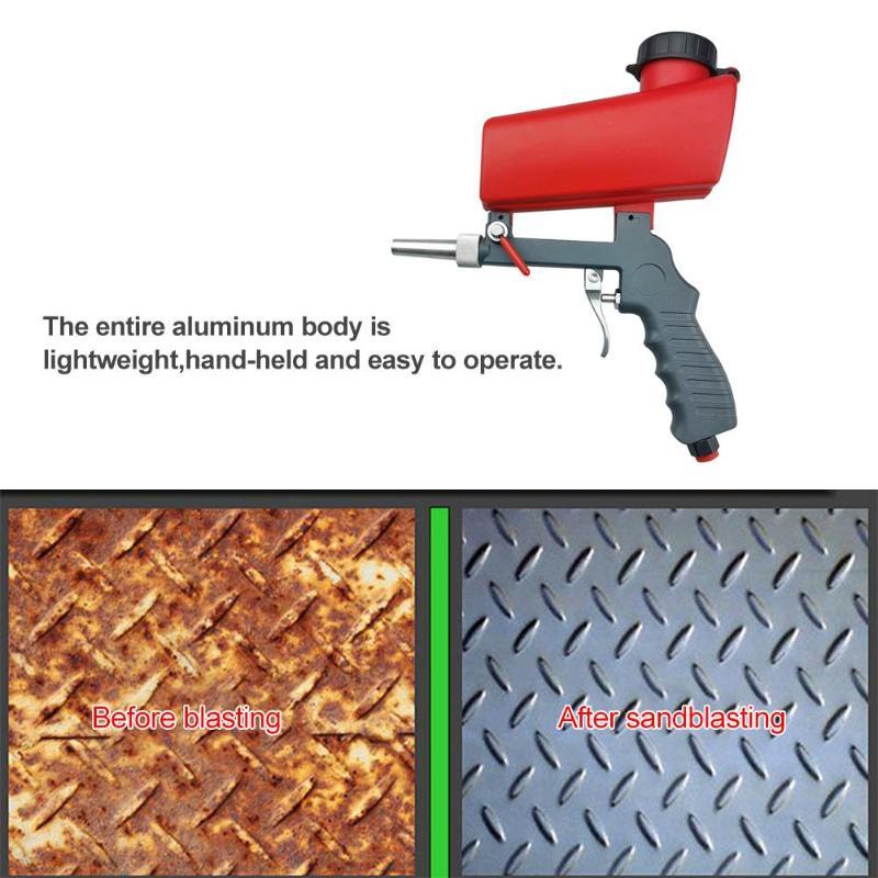 Image 5 - Portable Sandblaster Gun Sandblasting Pistol Sableuse Sandblast Gun DIY Anti rust Blasting Device Pneumatic Small Sand BlastingSpray Guns   -