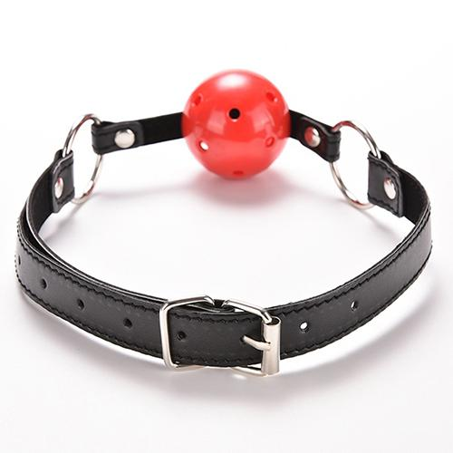 Faux Leather Band Restraint Ball Mouth Gag Fixation Mouth Stuffed Oral Fetish Sex Toys Surprise To Your Lover On Valentine's Day