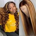 Rosabeauty, парики из человеческих волос без клея, на сетке спереди, предварительно выщипанные бразильские Прямые Цветные фронтальные парики дл...