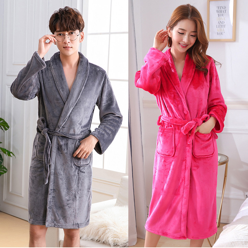 Robe For Sleepwear Winter Intimate Lingerie Nightgown Home Clothing Kimono Bathrobe Gown Negligee Large Size 3XL