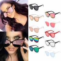 2021 nuevo diseñador De la marca De ojo De gato gafas De sol De las mujeres De Metal Vintage para mujeres espejo Retro Lunette De Soleil Femme UV400
