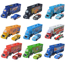 New Disney Pixar Cars 3 Lightning McQueen Jackson Storm Mack Uncle Truck 1:55 Diecast Model Car Toys For Children Birthday Gift
