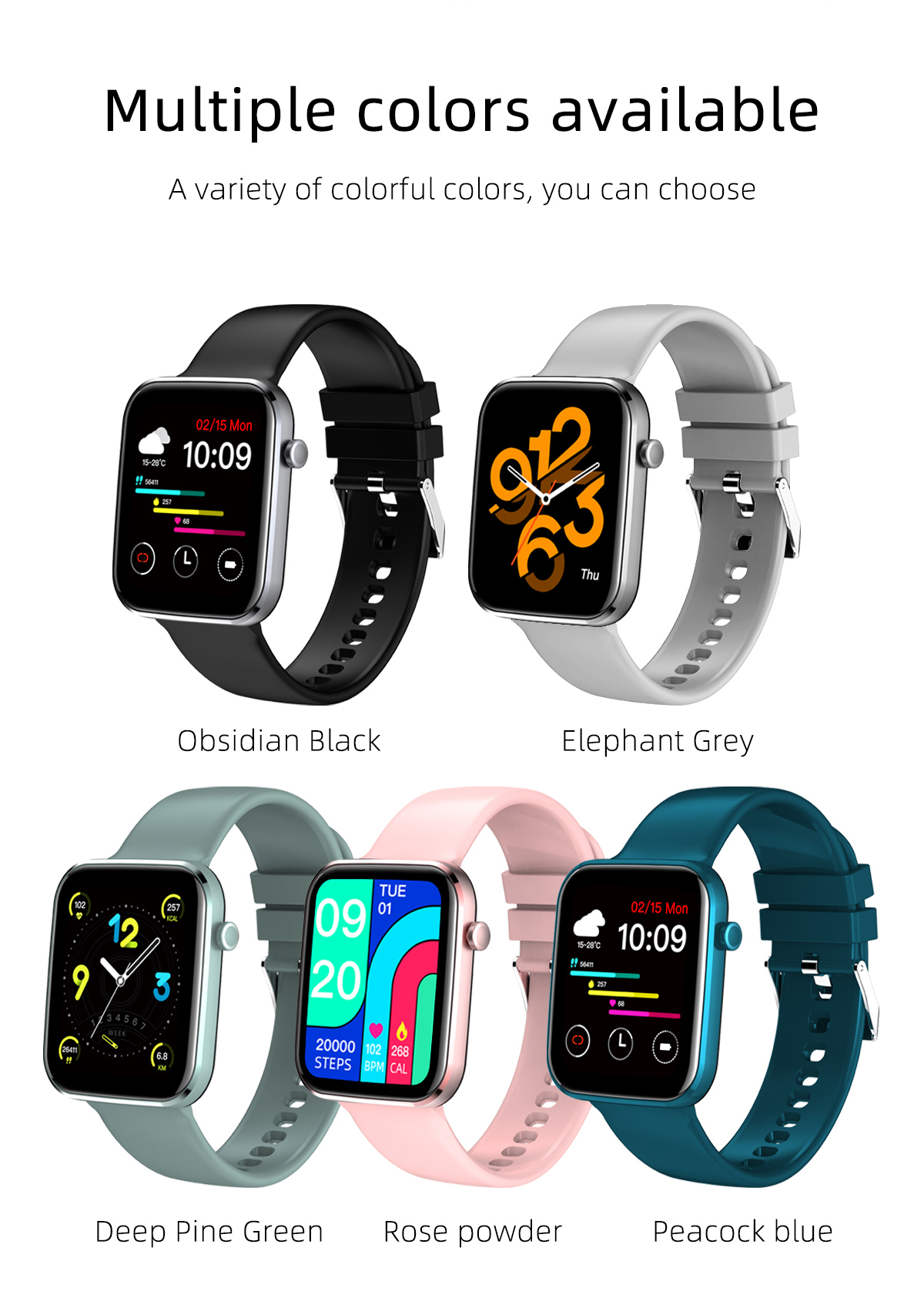 H15b5c6d28db0439eb7db143838536eacf MISIRUN Z15 Smart Watch for Man Women Full Touch Blood Pressure Smart Clock Women watch Smartwatch for IOS Android Xiaomi Phone
