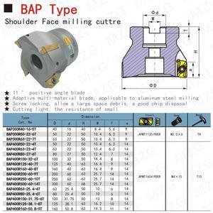 Image 3 - MZG הנחה מחיר BAP400R50 22 4T ארבעה הכנס מהודק עיבוד חיתוך סוף Shank טחנת כתף ימין זווית כרסום קאטר