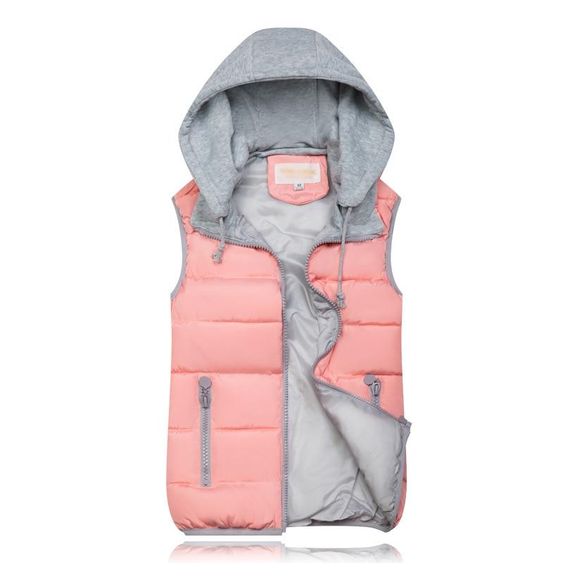 H15b5f779ed604c3b9fc8a094612b07aag 2019 Winter Coat Women Hooded Warm Vest Plus Size Candy Color Cotton Jacket Female Women Wadded Feminina chalecos