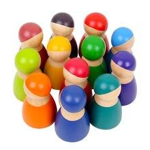 12 шт Детские деревянные игрушки