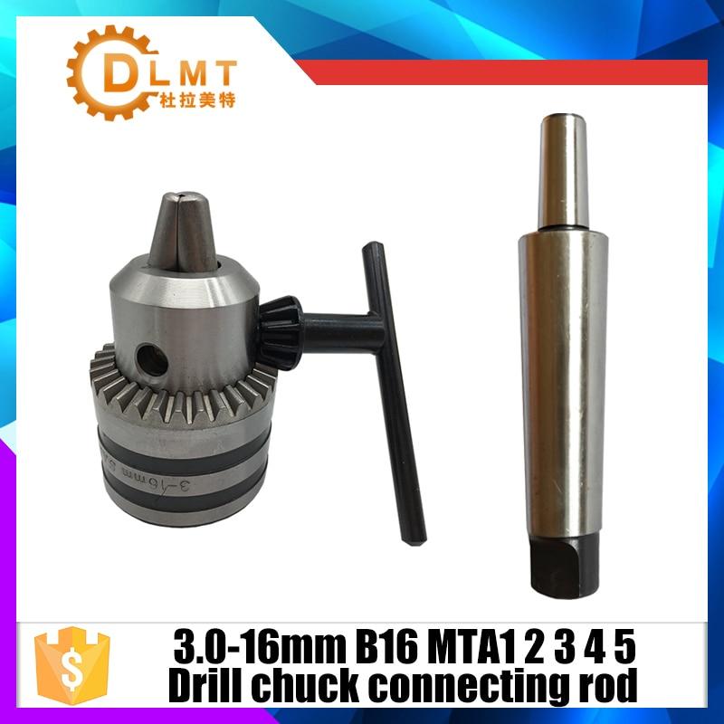 "Key 1-13mm 1//2/"" Mini Lathe Bench Drill Chuck MT2 Morse Taper Shank Tool Holder"
