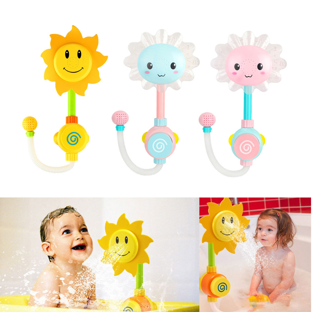 Limited Clearance Baby Bath Toys Sunflower Shower Faucet Water Spraying Playing Toys For Bathtub Swimming Pool Ship From Russia