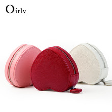 Oirlv Trendy PU Leather Jewelry Gift Box with Heart shape Velvet Internal Bracelet Necklace Packaging Storage Jewelry Organizer