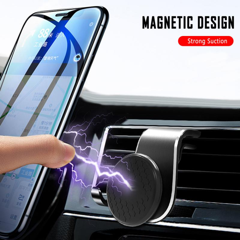 1pc Magnetic Car Phone Holder Mini Air Vent Stand Magnet Mount Mobile GPS Support Smartphone Stand Universal For IPhone Xiaomi