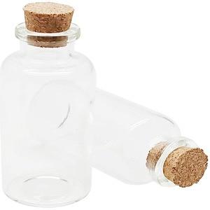 30 mL Cork Stopper Glass Bottles Clear Glass Bottles 30 Pcs