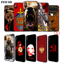 IYICAO Russian Bear Flag Soft Phone Case for iPhone 11 Pro XR X XS Max 6 6S 7 8 Plus 5 5S SE Silicone TPU