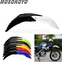 Garde-boue de garde-boue d'enduro d'aile avant de vélo de course de boue de Motocross en plastique d'abs blanc noir pour EXC XCF KLX KLF WR TTR
