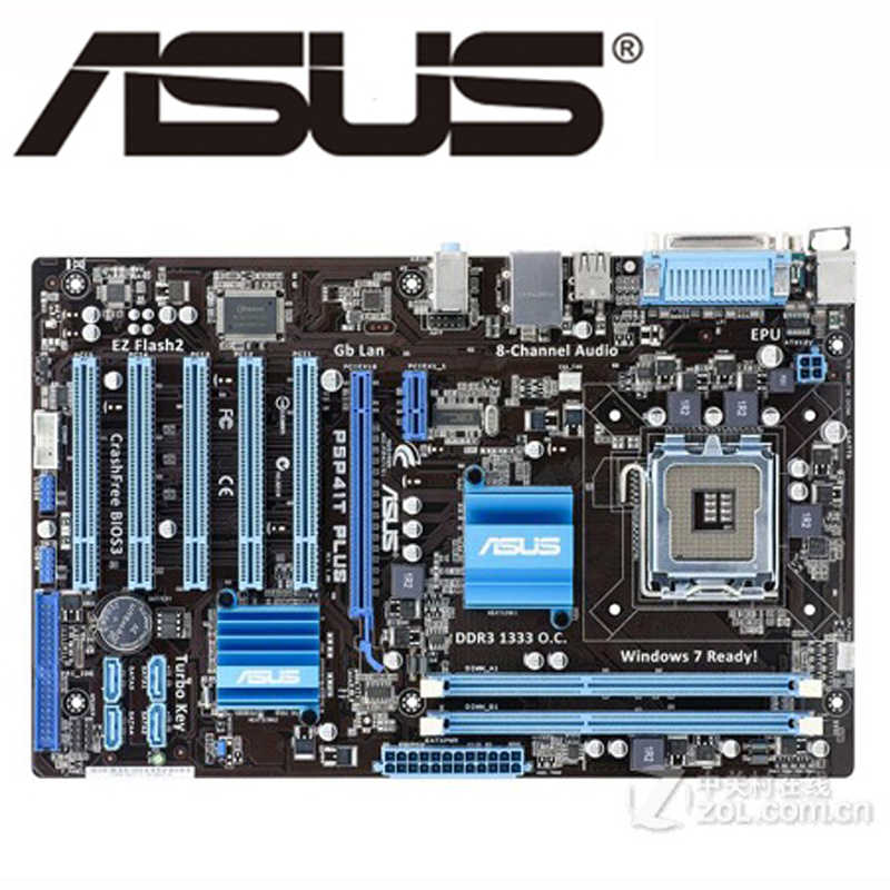 ASUS P5P41T PLUS Motherboard LGA 775 DDR3 8GB P5 P41T PLUS For Intel G41 Desktop Mainboard ATX Systemboard USB2.0 PCI-E X16 Used