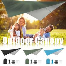 UNIQUE Triangle Sun Shelter Awning Canopy Shelters Anti-UV Sun Shade Sail Waterproof Tent Tarp Portable Outdoor Camping Picnic portable small awning summer outdoor beach face tent umbrellas face tent lightweight sun shelter canopy uv protection 2020 new