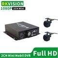 2CH Мини Автомобильный видеорегистратор двойная SD карта памяти такси автомобиль мотоцикл видеонаблюдения ip 2 канала AHD 1080P HD Запись два AHD кам...