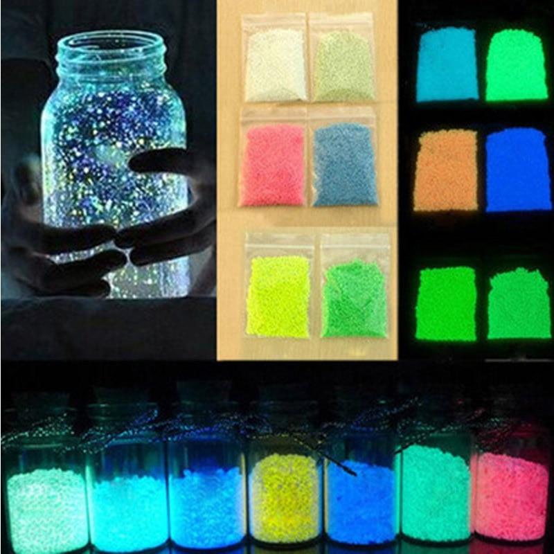 Luminous Sand Luminous Powder Glow In The Dark Party Toys DIY Bright Paint Star Wishing Bottle Fluorescent Toys For Children