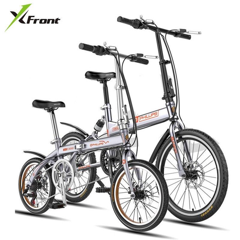 New Brand 14/16/20 Inch 6 Speed Carbon Steel Disc Brake Folding Bike Lady Children Bicicletas MBX  Bicycle