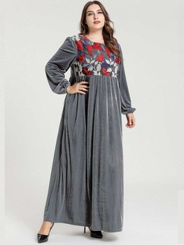 Fashion Holiday Abaya Muslim Women Workout Clothes Dress For Girls