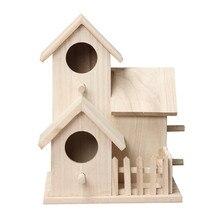Коробка для птичьего домика деревянная Подарочная коробка птичий домик аксессуары для дома или сада цветные Пернатые друзья Птичий дом