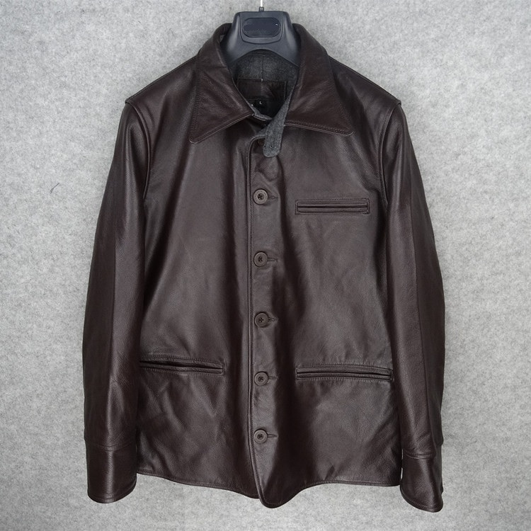 Free Shipping.Brand New Classic Mens Cowhide Jackets,quality Men Thick Genuine Leather Jacket.sales Casual Warm Long Coat,