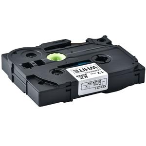 Image 2 - 100 Uds p touch tz231 tze231 12mm en blanco y negro de la cinta de etiqueta tze 231 tz 231 para impresora hermano tze131 431, 531, 631, 731