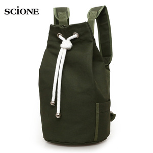 Image 1 - Men Gym Bag Drawstring Backpack Bucket Sports Basketball Bags For Women Fitness Canvas Rucksuck Sac De Sport Mochila XA718WA