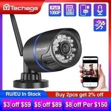 Беспроводная IP камера Techage 1080P с поддержкой Wi Fi, TF карты, Аудиозапись, 2 Мп, ИК подсветка, ночное видение, P2P, Onvif, наружное видеонаблюдение