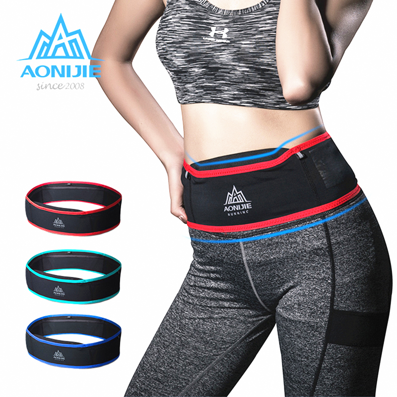 Aonijie Nylon Running Bag Breathable Waist Belt Ultralight Portable Elastic Waits Pack With 1 Pc 250ml Water Bottle Marathon Bag