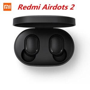 Original Xiaomi Redmi Airdots 2 TWS Earphone Wireless bluetooth 5.0 Earphone Stereo Noise Reduction Mic Voice Control