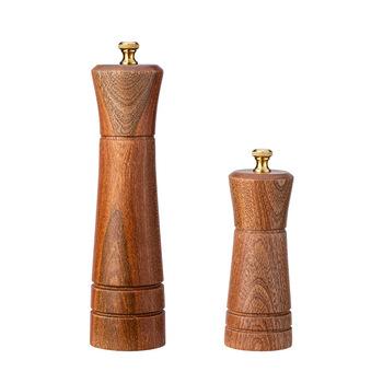 Ręczna młynek do pieprzu z drewna ze stali nierdzewnej solniczka z pieprzniczką młynek do pieprzu młynek wielofunkcyjny sól i młynek do pieprzu młynek do tanie i dobre opinie Szlifierki przypraw i nakrętki CN (pochodzenie) CE UE Ekologiczne Na stanie MA0038 Ebony 5 inch 8 inch