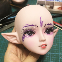 BJD Doll Head American Girl Doll Accessories Makeup BJD 1/3 Elf Ear Muscle Color for 60cm Doll DIY Head Without Eyes Cheap Toys luodoll doll juah bjd doll resin figures toy 1 3 doll tan skin presented eyes and makeup