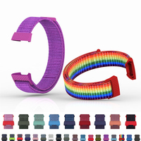 Nylon Wrist Strap For Fitbit Charge 4 Band Soft Nylon Bracelet Band Colorful Breathable Stretchable Straps For Fitbit Charge 3 4