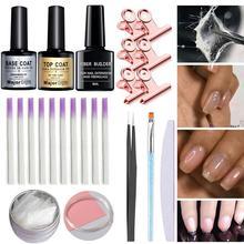 Acrylic fiberglass nails art kit uv gel nail