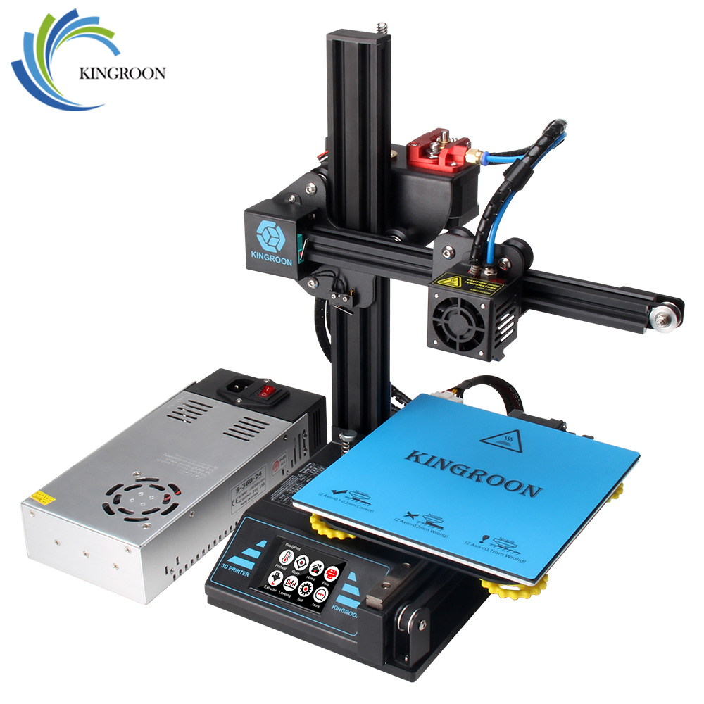 KingRoon DIY 3D Printer KP3 Upgraded High Precision 3D принтер 180*180*180mm Rigid Metal Frame Drukarka 3D Touch LCD Screen Hot