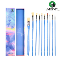 Marie's Paint Brush 10pcs Professional Nylon Paint Brush Art Painting Brushes for Gouache Oil Painting Brush School Art Supplies