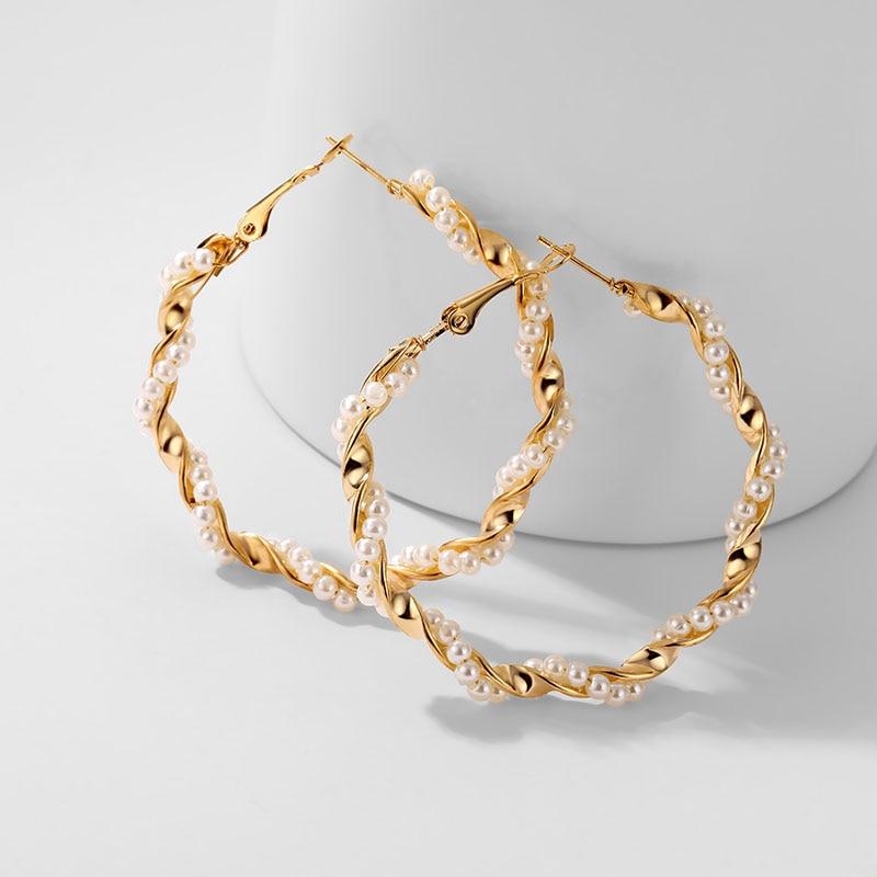 IPARAM, новинка, большие круглые серьги-кольца для женщин, модные, массивные, золотой, в стиле панк, очаровательные серьги, вечерние ювелирные изделия - Окраска металла: IPA0055-1